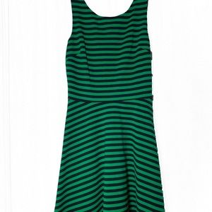 AEO Green Striped Strappy Sundress Size Small